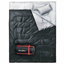 Ohuhu Double Sleeping Bag With 2 Camping Pillows, Waterproof Lightweight... - $74.99+