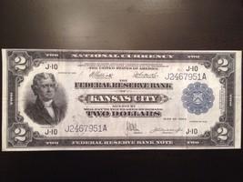 Reproduction $2 Federal Reserve Bank Note 1918 Kansas City Jefferson Bat... - $2.96