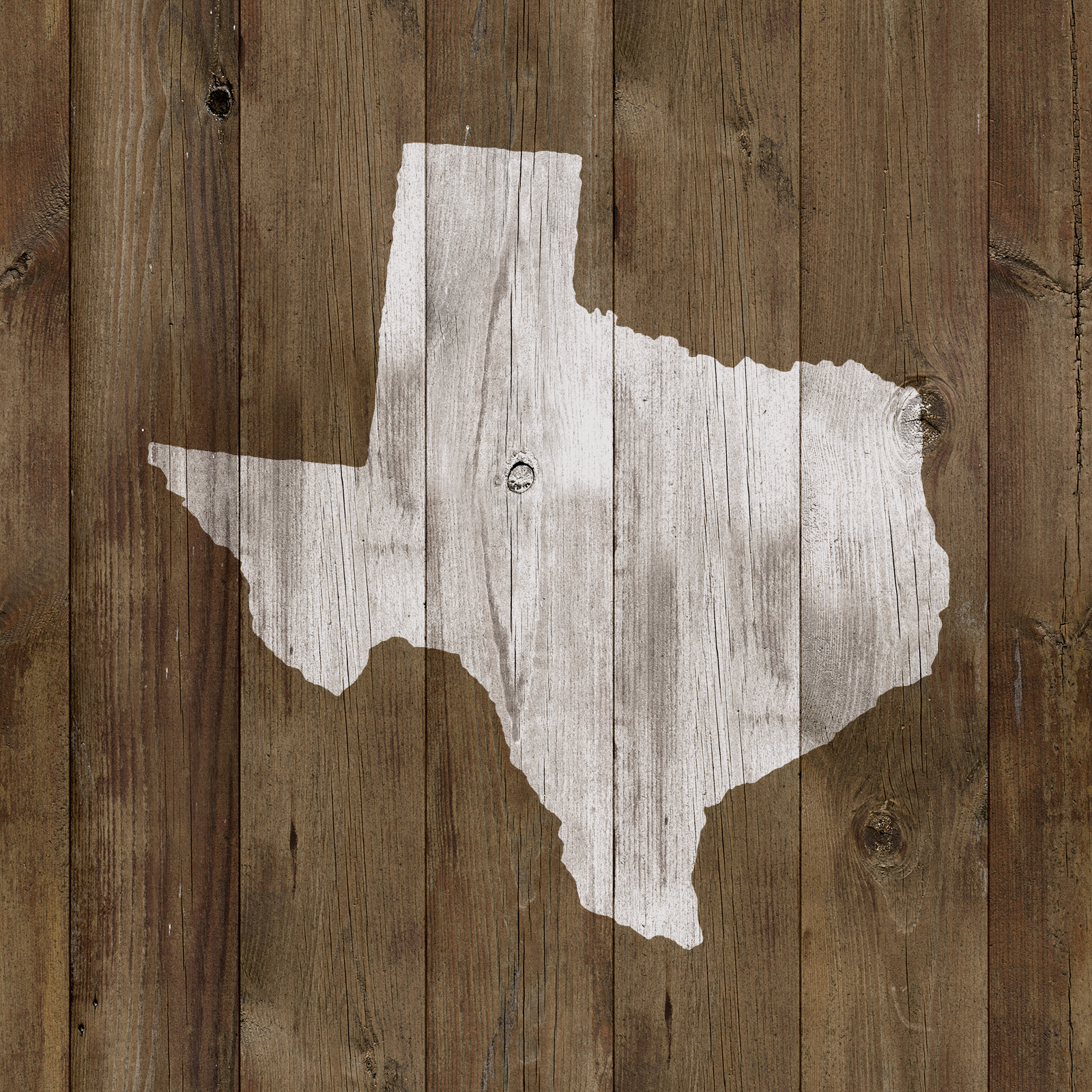 Texas State Stencil - Reusable Stencils of Texas State in Multiple Sizes