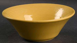 "Concentrix Saffron Yellow China Stoneware Coup Cereal Bowl, 65/8"" by Lynn's, Loo - $14.99"