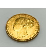 Great Britain 1878 Queen Victoria Young Head Melbourne Mint Full Gold So... - $699.99