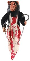 HALLOWEEN HANGING MEAT HOOKS PIG BUTCHER 3 FT CEMETARY GRAVEYARD DECORAT... - $29.95