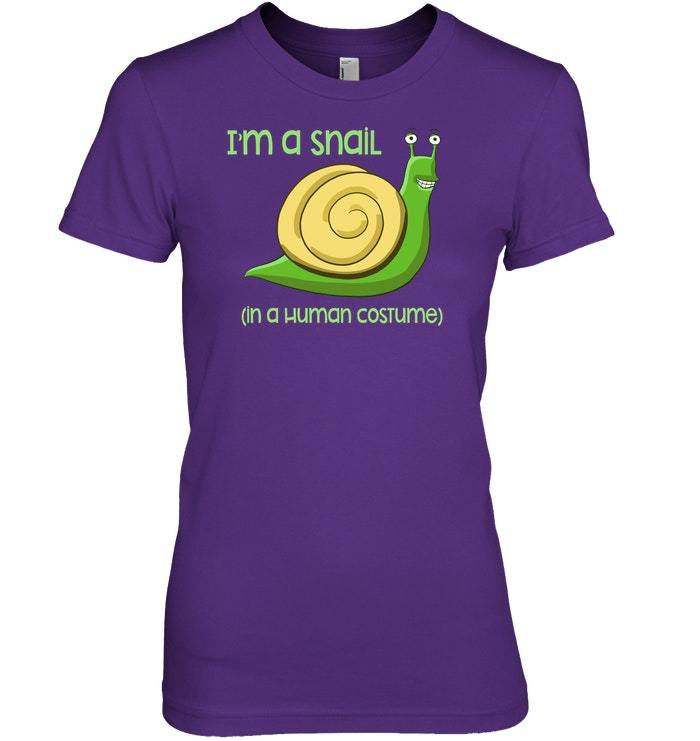 Funny Snails Graphic Snail Costume Tshirt