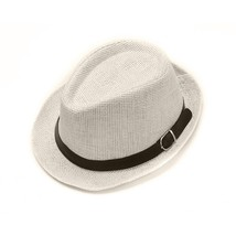 Band Exquisite Sun Synthetic Hat Men Breathable Straw Leather Weave with... - $9.74