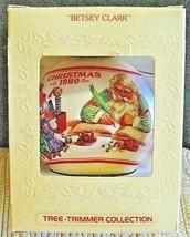 Hallmark Glass Ornament Betsey Clark Tree Trimmer Collection 1980 Santa ... - $9.89