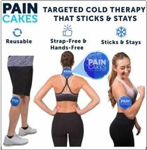 "LARGE BLUE PAINCAKES ""THE COLD PACK THAT STICKS"" Cold Therapy .. image 3"