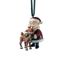 "Jim Shore ""Rudolph the Red-Nosed Reindeer"" Santa Hugging Rudolph Hanging... - $59.08"