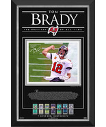 Tom Brady Ltd Ed of 212 Frame with Facsimile Autograph - Tampa Bay Bucca... - $415.00