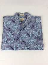Campia Moda Purple Hawaiian Floral Shirt Mens Size Large - $17.30