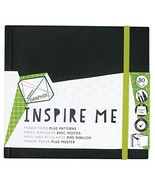 Derwent Sketch Book, Graphik Inspire Me, 80 Pages of Bleed Proof Pattern... - $13.15