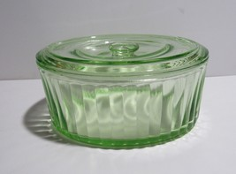 Depression Glass Oval Refrigerator Container with lid - $28.50