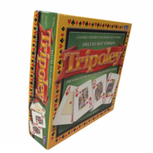 Tripoley Deluxe Mat Version Game of Rummy, Hearts & Poker Board Game 2003 Cadaco - $29.68