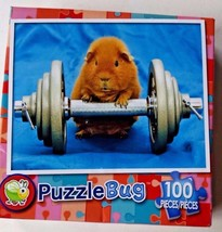 NEW Sealed Children's 100 pc Puzzle Easter Hamster Basket Funny Gift - $3.95