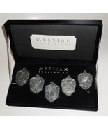 Messiah Collection set 5 Ornaments pewter-plated die-cast Christmas stor... - $27.77