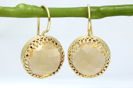 Citrine earrings,statement earrings,large earrings,dangle earrings - $66.00+