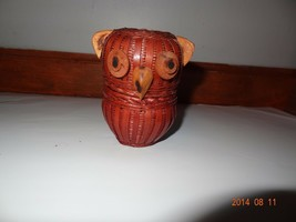 Vintage owl basket. Small Brown It has two halves that fit together - $26.30
