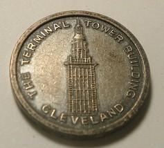 Antique Vtg Token Terminal Tower Building Cleveland Ohio Observation Tel... - $10.00