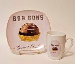 "Vintage Sakura Confections Plate & Coffee Cup - ""Bon Bons"" - $19.99"