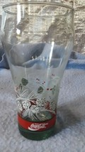 Vintage Libby Painted Christmas Pinecones Coke glass  - $12.65