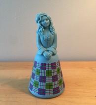 70s Avon Scottish Lass plaid design woman cologne bottle (Sweet Honesty)