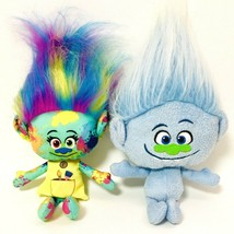 "Trolls Lot Of 2 Harper And Guy Diamond Hasbro Troll Doll 12"" - $11.39"