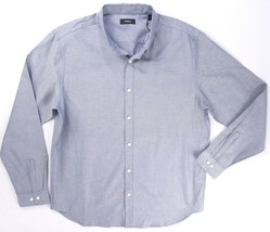 Nuevo 225$ Theory Azul Finch Perpetuo Oxford Edward con Botones Camisa T... - $72.89