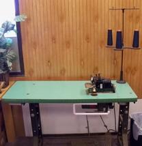 Vintage Merrow Serger Industrial Sewing Machine 3 Thread 110v motor - $500.18