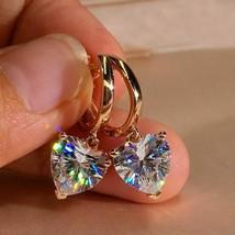 Fashion Heart Earrings  Zircon Dangle Crystal Drop Hoop Women Jewelry Gifts HOT - $9.00+