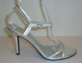 Ralph Lauren Size 9.5 M AELA Silver Leather Metallic Sandals New Womens ... - $32.13