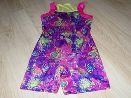 Size Medium Future Star Capezio Dance Gymnastics Unitard Leotard Pink Li... - $16.00