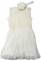 Popatu Girls Special Occasion Dresses (4T, Ivory) - $39.99