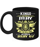 Birthday Mug Kings Are Born on 7th of May 11oz Coffee Mug Kings Bday gift - $15.95
