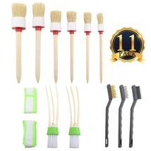 SUBANG 11 Pieces Car Cleaner Brush Set,Including Natural Boar Hair Detai... - $12.68