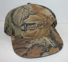 Trucker Hat Camouflage Columbia Forest Products Mesh Snapback USA Made - $19.34