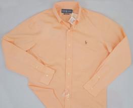 NWT! NEW! Polo Ralph Lauren Classic Fit Pinpoint Dress Shirt! 17 32 33  Orange - $54.99