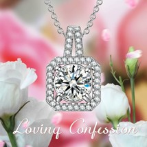 Sterling Silver Twisted Stem Tear Drop Cubic Zirconia Pendant Necklace 1... - $9.79