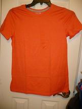 Time And Tru Women's Crew Neck T Shirt MEDIUM (8-10) Coral Zest Short Sl... - $11.87