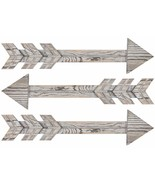 Wood Arrows Wall Decor, Set of 3 Farmhouse Arrow Sign - £21.69 GBP