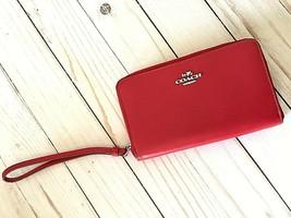 Coach  Classic Red 64789b acordeon Universal Zip Case Smooth True Wallet - $44.55