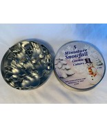 5 Miniature Snowfall Cookie Cutters R & M Corp Christmas Holiday #1986 +... - $13.99