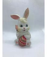 Ceramic Easter Bunny Holding Colored Egg w/ Paint Brush - $9.50