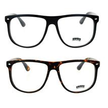 SA106 Clear Lens Thin Plastic Oversized Horn Rim Eyeglasses - $12.95