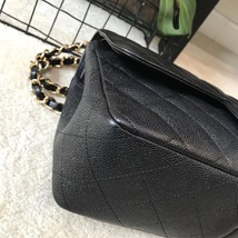AUTHENTIC CHANEL BLACK CAVIAR QUILTED JUMBO DOUBLE FLAP BAG GHW image 5