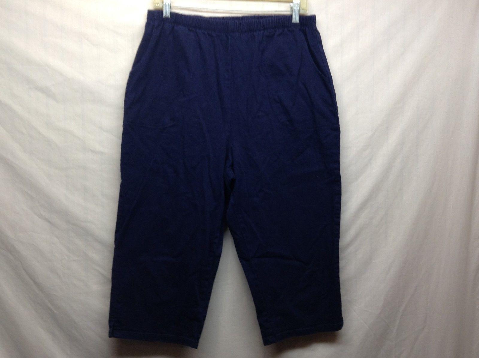 Denim & Co Blue Capri Pants Sz M