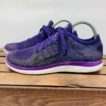 Nike Free 4.0 Flyknit Running Sneaker Women's 9 Purple 631050 500 - $62.09