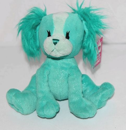 GANZ H11588 Bright Dark Turquoise Sparkly Papillon Pup 8 Inch