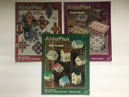Aida Plus Bird Houses 4754 Trinket Boxes 4752 Beaded Ornaments 4808 Booklets - $13.97
