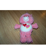 "10"" Love A Lot Care Bear Plush Stuffed Animal Toy Pink Two Hearts Tummy GUC - $15.00"