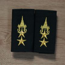 Lieutenant Colonel, Lt.Col. Rank Royal Thai Army Shoulder Boards Fabric Pair #1 - $23.38