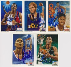 NBA Legends Signed Lot of (5) Trading Cards - King, Coleman, Dougherty - $29.99